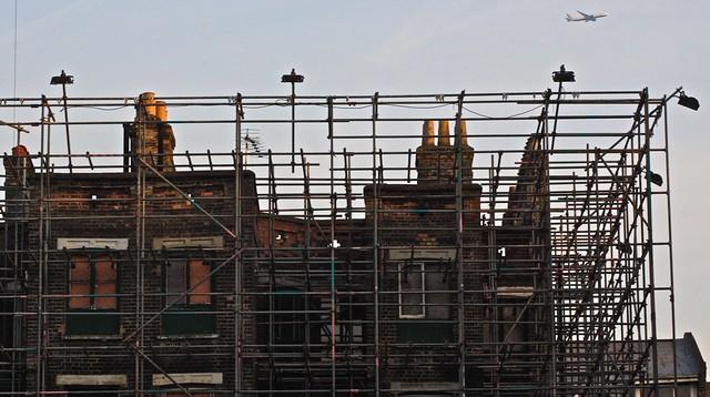 Gurulós állványok építkezéseken