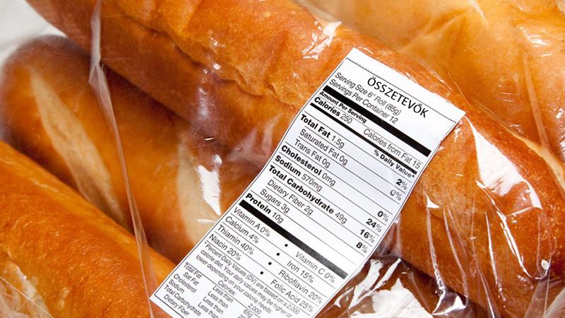 Élelmiszer etikett címke
